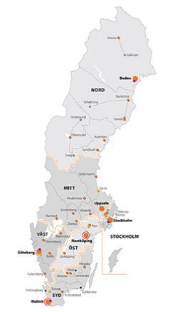 스웨덴 전국 공공 대피시설 현황